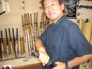 Hiroshi with Katana