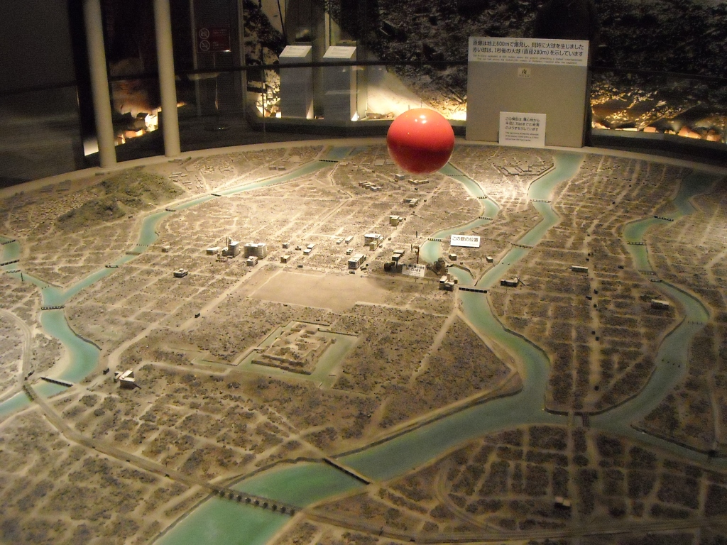 What Hiroshima looked like after the bomb, plus where the bomb was when it exploded