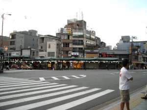 Big intersection in Kyoto